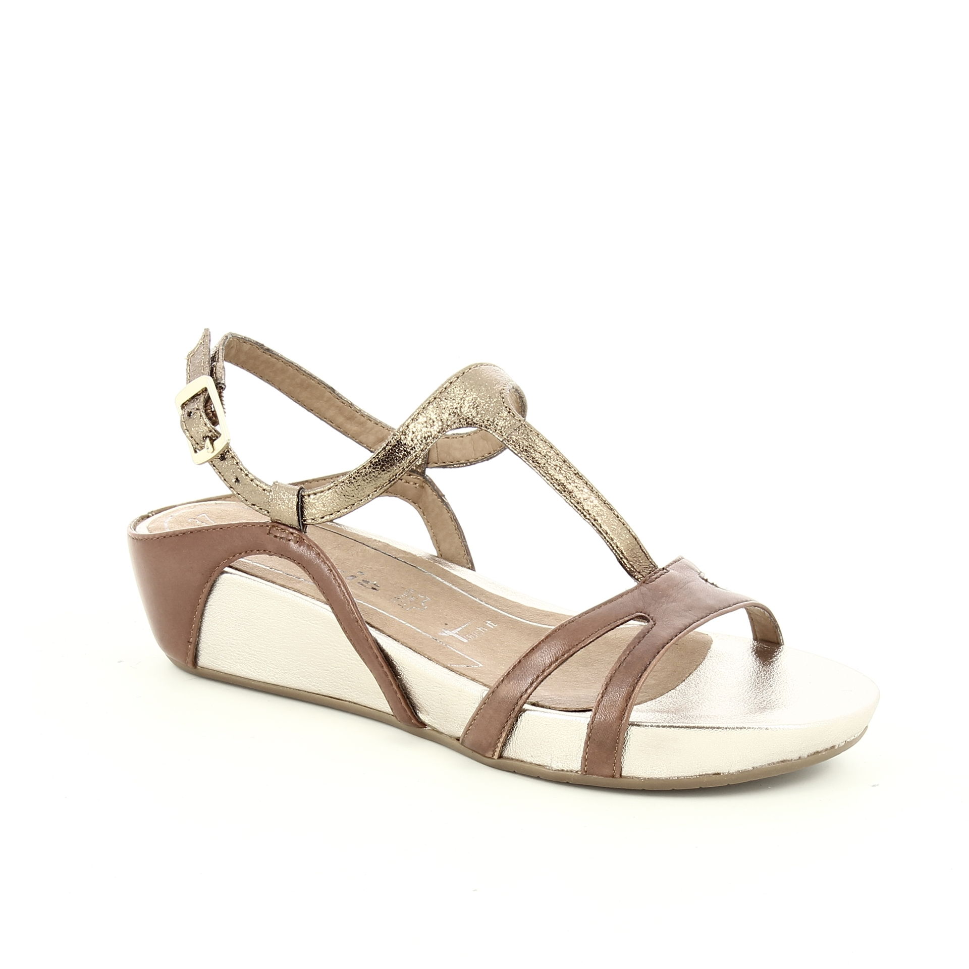 Bercolini Kényelmes cipők Tamaris, női, szandál, bőr textil