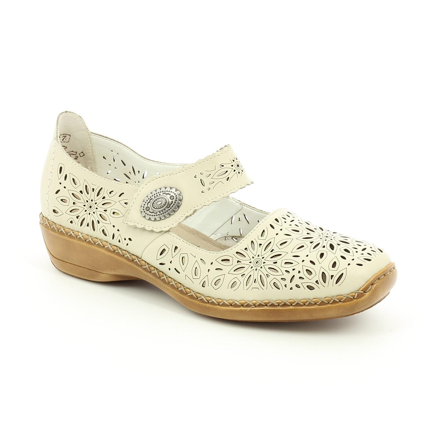 Bercolini Kényelmes cipők Rieker, női, fél, bőr