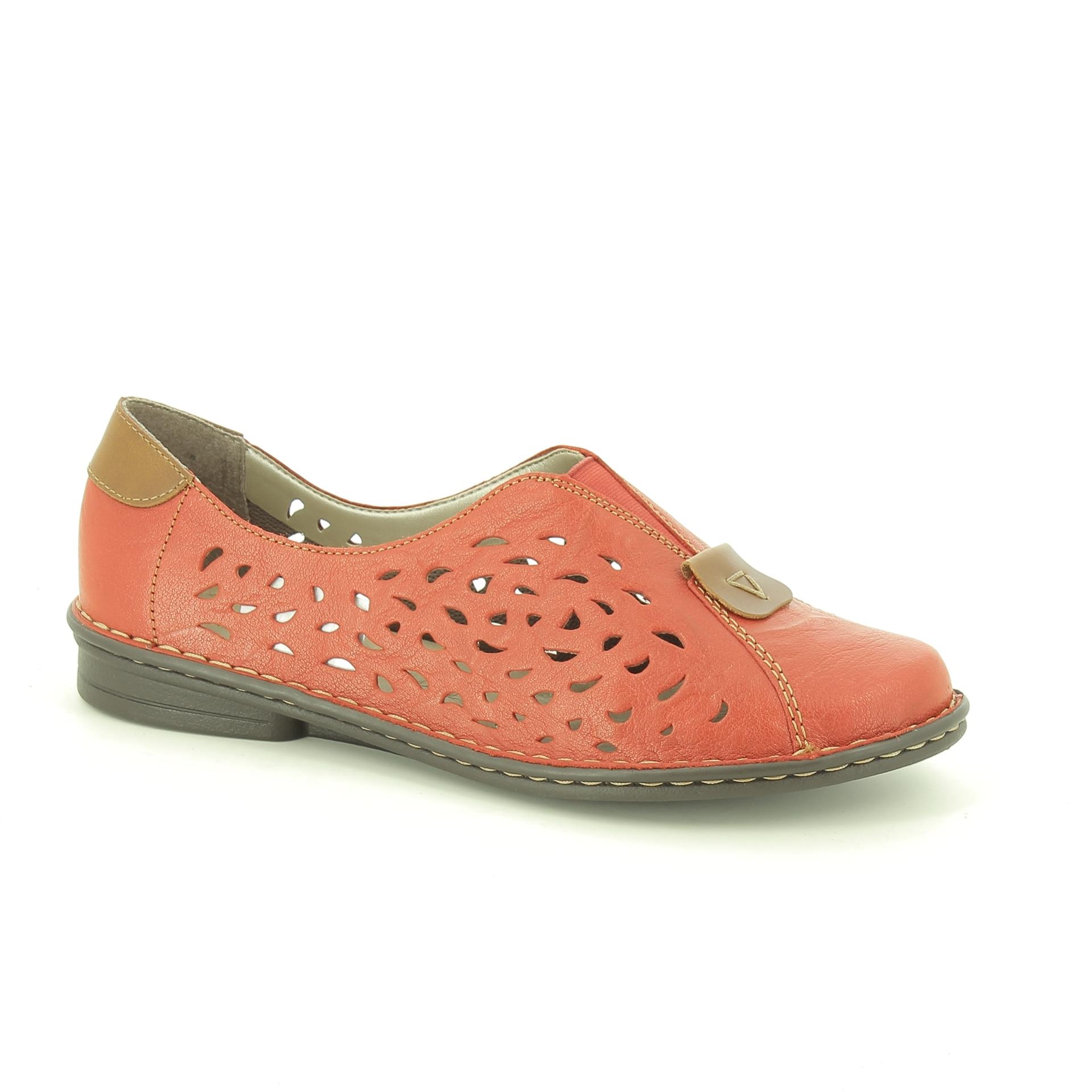 Bercolini Kényelmes cipők Rieker, női, szandál, bőr