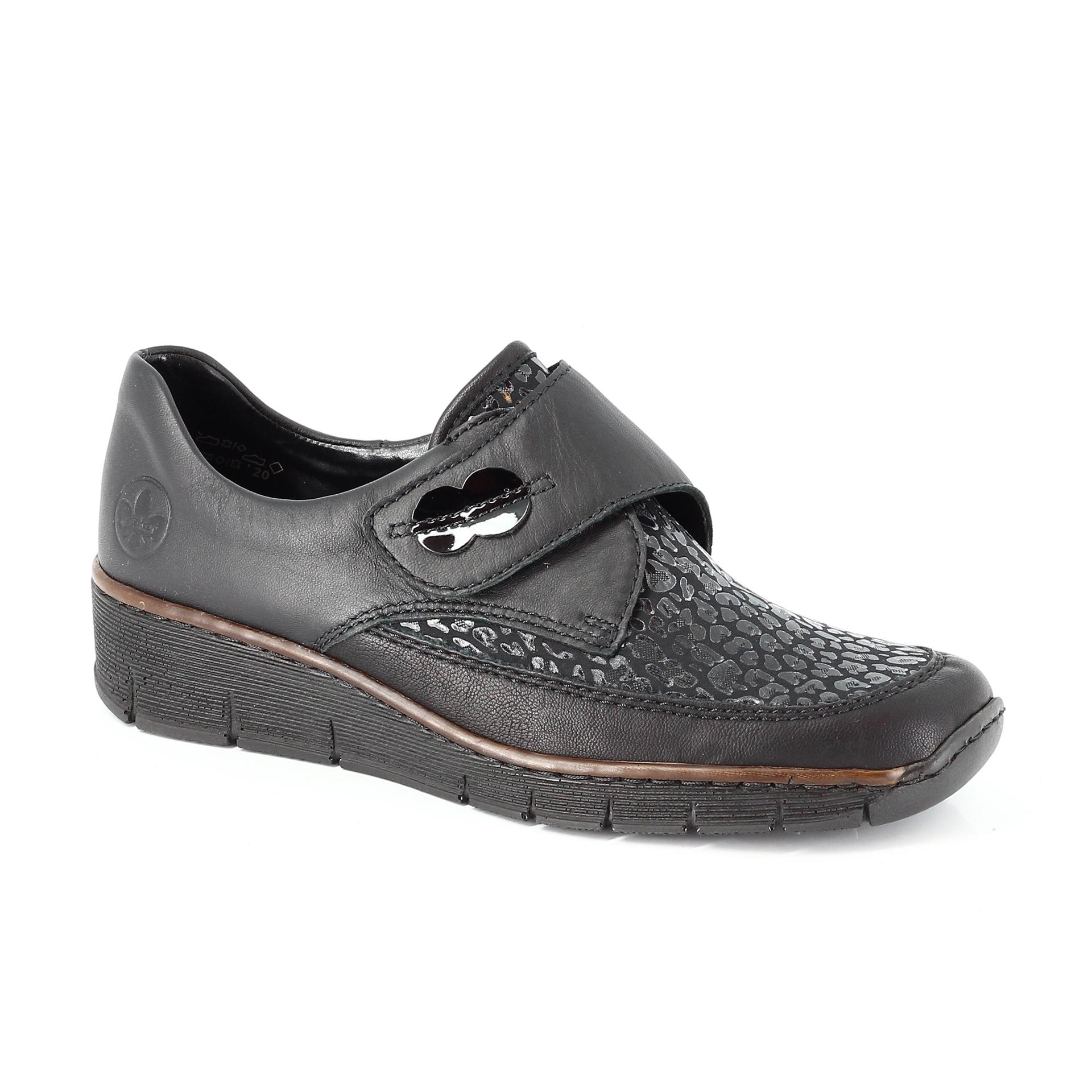 Bercolini Kényelmes cipők Rieker, férfi fél bőr