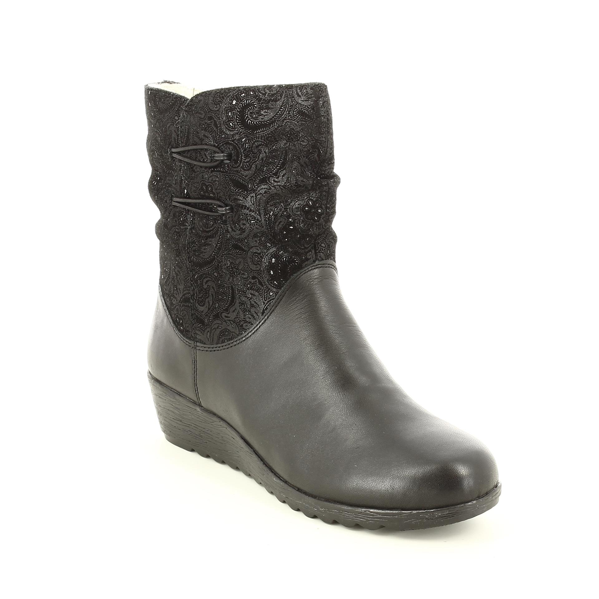 Bercolini Kényelmes cipők Rieker, női, csizma , bőr